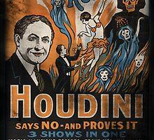 Houdini Magician Vintage by Vintage Designs