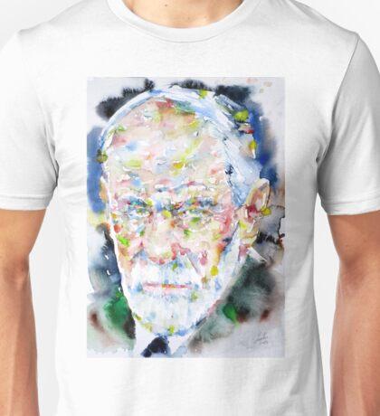 SIGMUND FREUD - watercolor portrait.2 Unisex T-Shirt