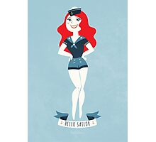 HELLO SAILOR! Ginger Photographic Print