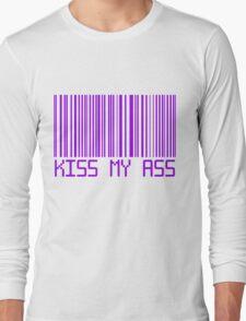 Kiss My Ass Barcode Long Sleeve T-Shirt