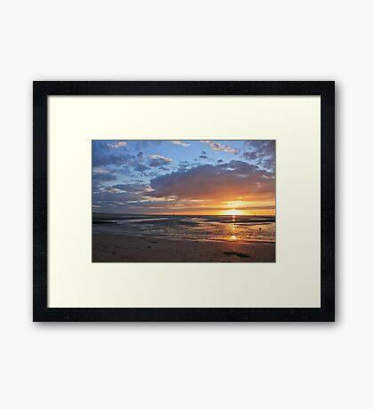 Sunset in Normandy Framed Print