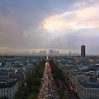 Paris from the top of the Arc de Triomphe by Julien Tordjman