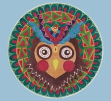 The Tribal Great Horned Owl Kids Clothes