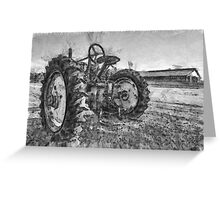Day is Done Vintage Tractor Pencil Greeting Card