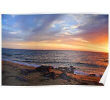 Black Rock Sunset. Poster