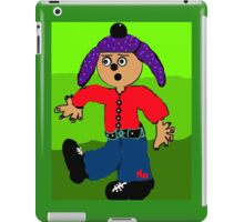 dancing boy with purple hat iPad Case/Skin