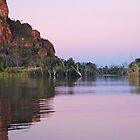 Dusk on  the Ord River, Western Australia by Adrian Paul