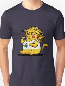 Pikachu Smoking Weed (And Stoned) T-Shirt