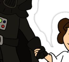 Darth Father and Daughter Sticker