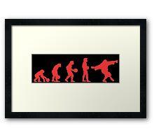Lebowki evolution red Framed Print