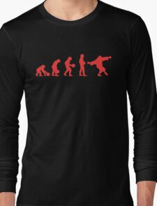 Lebowki evolution red Long Sleeve T-Shirt