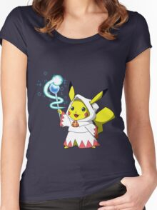 White Mage Pikachu Women's Fitted Scoop T-Shirt