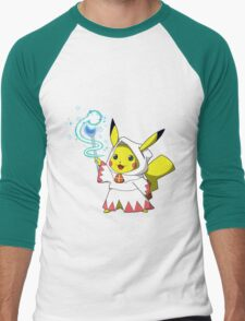 White Mage Pikachu Men's Baseball ¾ T-Shirt