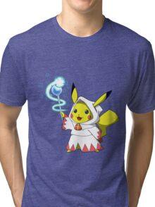White Mage Pikachu Tri-blend T-Shirt