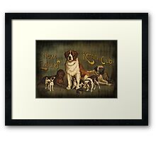 New England Kennel Club Vintage painting Framed Print