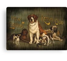 New England Kennel Club Vintage painting Canvas Print