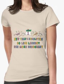 """Funny New Years Resolutions """"Do Less Laundry"""" T-Shirt T-Shirt"""