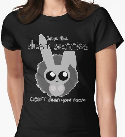 Dust Bunnies-Save Them (Alternate Version) Womens Fitted T-Shirt