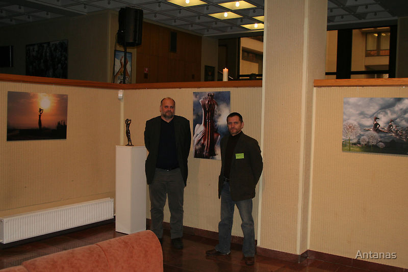 I & Sculptor (my exhibition today) by Antanas