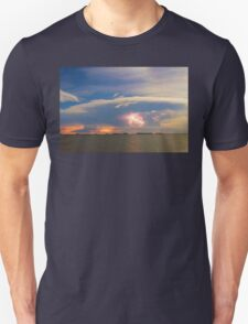 Lightning at Sunset with Star Trails T-Shirt
