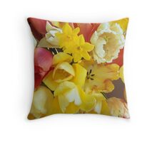 Spring Tulips with Narcissus #3 Throw Pillow