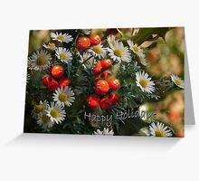 Daisies and Holy - Holidays greeting card-full Greeting Card