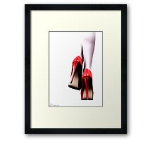 ..A study in red.. Framed Print
