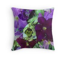 Clematis & Passionflower, Detail #3 Throw Pillow