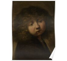 Painting - Head of a boy, circle of Rembrandt Harmensz. van Rijn, after 1643  Poster