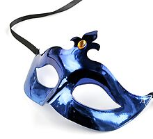 Blue Venetian Mask by caqphotography