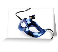 Blue Venetian Mask Greeting Card