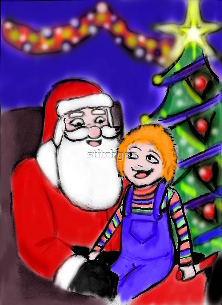He knows what he wants for Christmas by stitchgrin