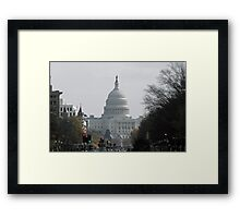 Looming Capitol Framed Print
