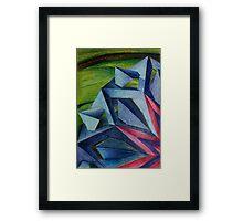 Abstract Geometric Flower Framed Print