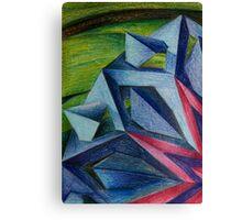 Abstract Geometric Flower Canvas Print