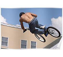 Stunt Biking on a Hot Day Poster