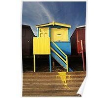 Beach hut, Frinton-on-Sea Poster