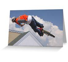 BMX Stunt Biker Greeting Card