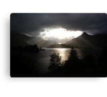 Morning sun, Loch Leven Canvas Print
