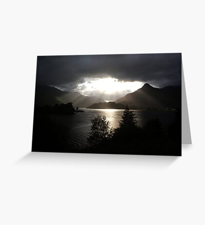 Morning sun, Loch Leven Greeting Card