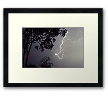Wild Lightning Framed Print