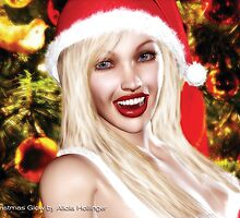 Christmas Glow card by Alicia Hollinger by Alicia Hollinger