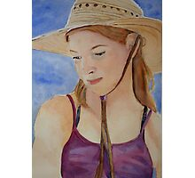 Hat and Shoulders Photographic Print