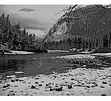 Winter has arrived in Banff Canada Photographic Print