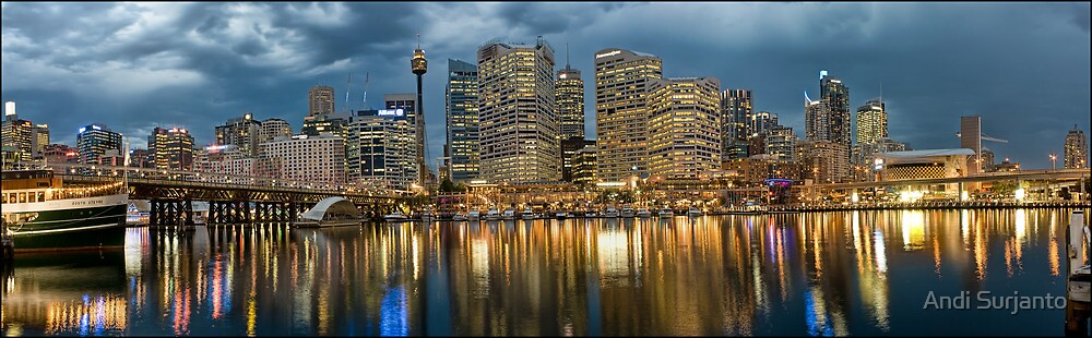Darling Harbour Panoramic View by Andi Surjanto