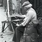 Belgian Street Painter by Sam Davis