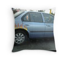Wheels on Fire, Bayswater Throw Pillow