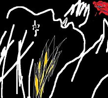 Woman mourning -(030615)- MS Paint/Mouse drawn by paulramnora