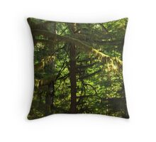 Trees and Moss Throw Pillow