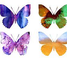 Watercolor Butterflies 2 by AnnArtshock